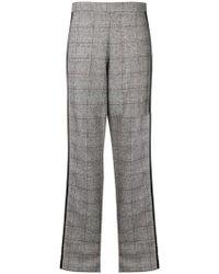 FEDERICA TOSI - Side Stripe Plaid Trousers - Lyst