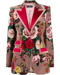 Dolce & Gabbana オーバーサイズ ジャケット - ピンク