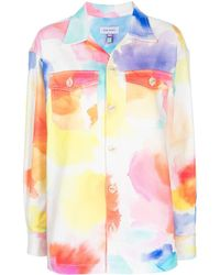 Mira Mikati Tie-dye Shirt Jacket - Multicolor