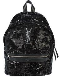 Saint Laurent - Logo Monogram Backpack - Lyst