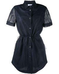 Thom Browne メッシュ シャツドレス - ブルー