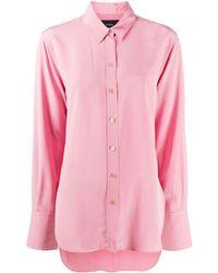 JOSEPH Long-sleeve Silk Shirt - Pink