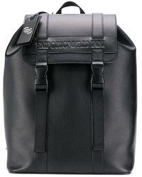 Emporio Armani ロゴ バックパック - ブラック