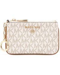 MICHAEL Michael Kors Monogram Key-card Case - White