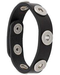 DIESEL - Thin Leather Bracelet - Lyst