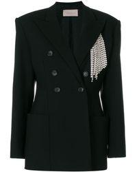 Christopher Kane Crystal tailored jacket - Nero