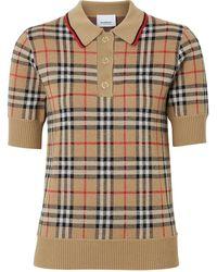 Burberry Рубашка-поло В Клетку Vintage Check - Естественный