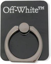 Off-White c/o Virgil Abloh Кольцо-держатель Для Телефона С Логотипом - Черный