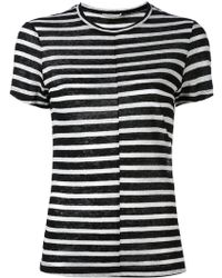 FRAME - Striped T-shirt - Lyst