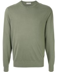 Gieves & Hawkes Crew Neck Jumper - Green