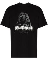 Neighborhood Urge Logo Print T-shirt - ブラック