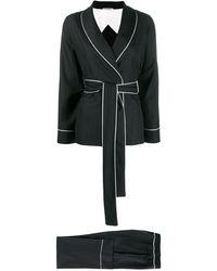 Parlor Pintstripe Trouser Suit - Black