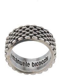 Emanuele Bicocchi Ring im mit Logo-Prägung - Mettallic
