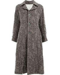 Renli Su Single Breasted Coat - Grey