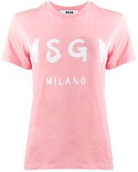 MSGM - Футболка С Логотипом - Lyst