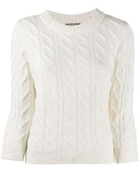 N.Peal Cashmere Cable Cashmere Jumper With Sequins - Multicolour