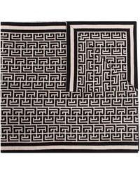 Balmain モノグラム スカーフ - ブラック