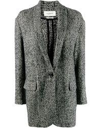 Étoile Isabel Marant Oversized Textured Blazer - Black