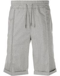 Billionaire Drawstring Tailored Shorts - Grey
