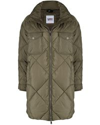 Tommy Hilfiger Diamond Quilted Oversize Coat - Green