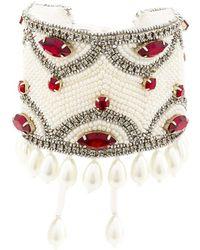 Etro Crystal Pearl Embellished Bracelet - White