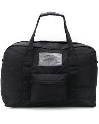 DIESEL Packable Dictionary Logo Duffle Bag - Black
