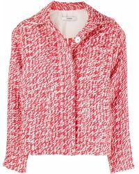 ODEEH Veste en tweed Jacke Aus - Rouge