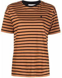 Carhartt WIP ストライプ Tシャツ - ブラウン