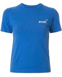 ADER error T-shirt à logo - Bleu