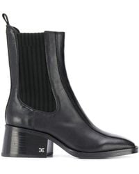Sam Edelman Square Toe Ankle Boots - Black