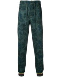 Etro - Floral Print Track Pants - Lyst