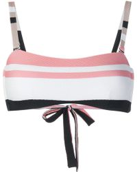 Asceno - Bold Stripe Wrap Bikini Bandeau - Lyst