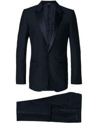 Dolce & Gabbana Satin Trim Dinner Suit - Blauw