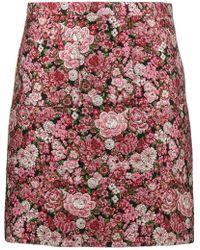 Adam Lippes - Mini Floral Brocade Pencil Skirt - Lyst