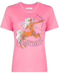Alberta Ferretti Sagittarius Tシャツ - ピンク