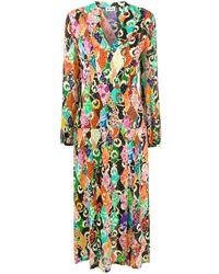 RIXO London パッチワークプリント ドレス - オレンジ