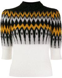 Laneus コントラストパネル セーター - マルチカラー