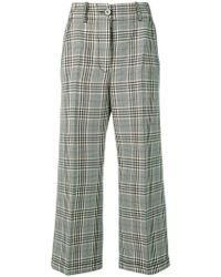 MM6 by Maison Martin Margiela - Checked Cropped Trousers - Lyst