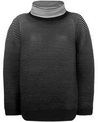 Issey Miyake ストライプ セーター - ブラック