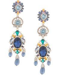 Marchesa Regal Affair Embellished Earrings - Blue