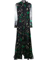 Valentino Вечернее Платье С Принтом - Зеленый