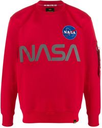 Alpha Industries Nasa Reflective Sweatshirt - Red