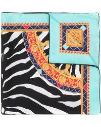Dolce & Gabbana Zebra print scarf - Azul