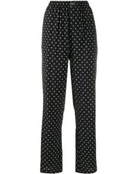 Balenciaga Bb Logo Wide Leg Trousers - Black