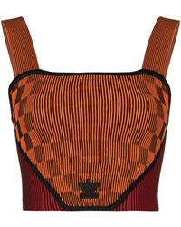 adidas X Paolina Russo Ribbed Corset Top - Orange