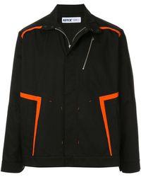 Affix ストライプ シャツジャケット - ブラック