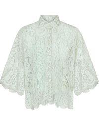 Dolce & Gabbana - Рубашка Из Цветочного Кружева - Lyst