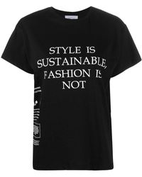 Redemption スローガン Tシャツ - ブラック