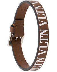 Valentino - Garavani Vltn Leather Bracelet - Lyst