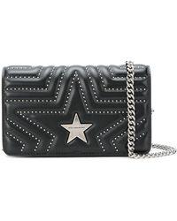 Stella McCartney Star Quilted Shoulder Bag - Zwart